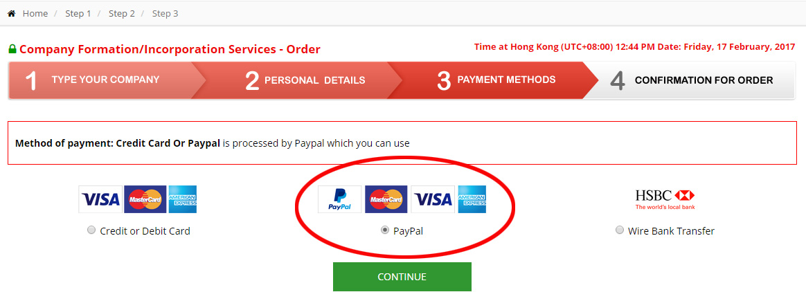 Payment by Paypal or Credit/Debit Card via Paypal (www.paypal.com)